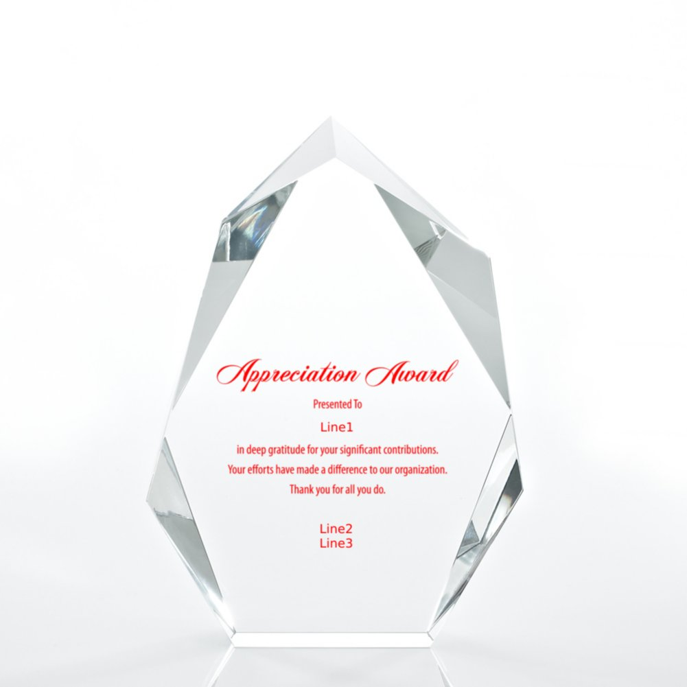 View larger image of Executive Beveled Crystal Trophy - Peak